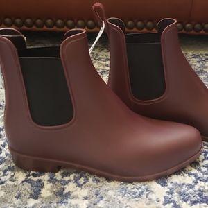 New Burgundy Rain Boots